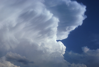 Cumulonimbus showing edge of a building anvil (DI00083)
