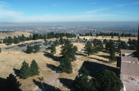 NCAR Mesa Laboratory: aerial view of NCAR parking lot (DI00908)
