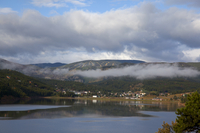 Barker reservoir with low-lying stratus cloud (DI02535) Photo by Carlye Calvin