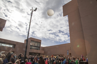 Balloon launch at Super Science Saturday