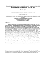Examining climate influences and economic impacts of harmful algal blooms in Massachusetts: 1993 and 2005