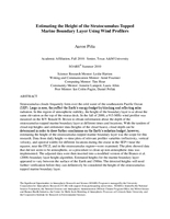 Estimating the height of the stratocumulus-topped marine boundary layer using wind profilers