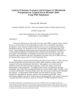 Analysis of moisture transport and its impact on mid-latitude precipitation by tropical storm Hermine (2010) using WRF simulations