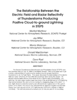 The relationship between the electric field and radar reflectivity of thunderstorms producing positive cloud-to-ground lightning in STEPS