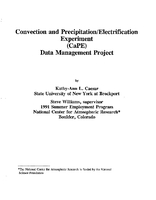 Convection and precipitation/electrification experiment (CaPE) data management project