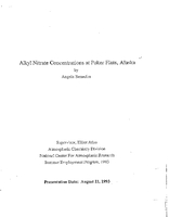 Alkyl nitrate concentrations at Poker Flats, Alaska