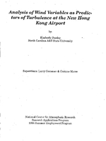 Analysis of wind variables as predictors of turbulence at the new Hong Kong airport