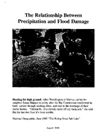 The relationship between precipitation and flood damage