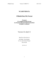 NCAR/UNIDATA CfRadial data file format: Proposed CF-compliant netCDF format for moments data for RADAR and LIDAR in radial coordinates - v1.0