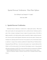 Spatial forecast verification: Thin plate splines