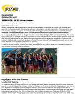SOARS Newsletter Summer 2013