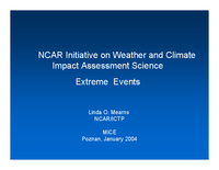 NCAR initiative on weather and climate impact assessment science