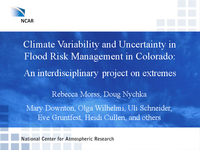 Climate variability and uncertainty in flood risk management in Colorado