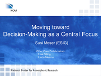 Moving toward decision-­making as a central focus