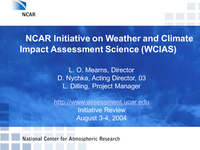 NCAR initiative on Weather and Climate Impact Assessment Science (WCIAS)