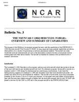 RAF Bulletin 3: The NSF/NCAR C-130Q Hercules (N130AR): Overview and summary of capabilities (updated 2003)