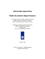 Radio occultation signal analysis