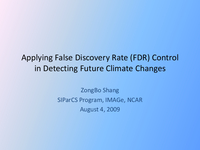 Applying False Discover Rate (FDR) control in detecting future climate changes [presentation]