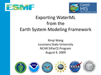 Exporting WaterML from the Earth System Modeling Framework [presentation]