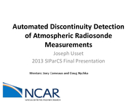 Determining change points in balloon-based measurements of the atmosphere [presentation]