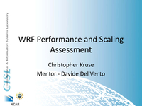 WRF performance and scaling assessment [presentation]