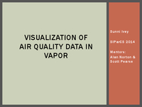 Visualization of air quality data in VAPOR