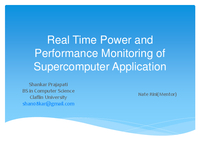 Real time power and performance monitoring of supercomputer application
