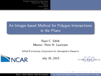 An integer-based method for polygon intersections in the plane
