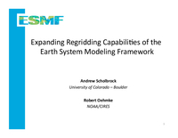 Increasing the regridding capabilities of the Earth system modeling framework to include LibCF functionality