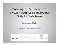 Modeling the performance of GHOST, the Geophysical High Order Suite for Turbulence