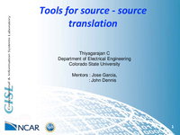 Source-source translators with respect to climate models