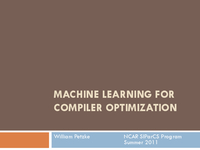 Machine learning for application optimization with c tuning