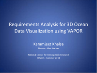 Requirements analysis for 3D ocean data visualization using VAPOR