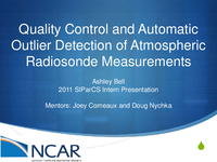 Quality control and automatic outlier detection of atmospheric radiosonde measurements
