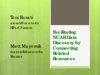 Facilitating NCAR data discovery by connecting related resources