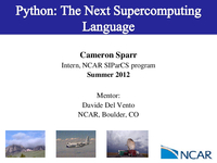 Python: The next supercomputing language
