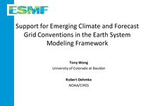 Support for emerging climate and forecast grid conventions in the Earth System Modeling framework