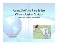 Parallelizing climate model analysis using Swift