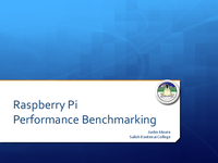 Performance benchmarking a Raspberry Pi cluster