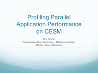 Profiling parallel application performance