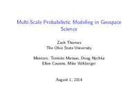 Multi-scale probabilistic modeling in geospace science