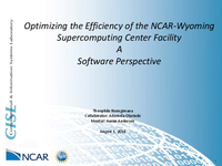 Optimizing the efficiency of the NCAR-Wyoming Supercomputing Facility: A software perspective