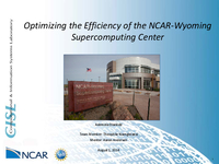 Optimizing the efficiency of the NCAR-Wyoming Supercomputing Center Facility - Part 2