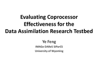Evaluating coprocessor effectiveness for the Data Assimilation Research Testbed