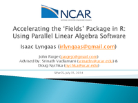 Accelerating the 'fields' package: Using parallel linear algebra software