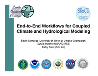 End-to-end workflows for coupled climate and hydrological modeling