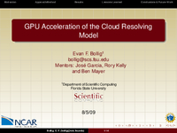 GPU acceleration of CRM for global climate simulation [presentation]