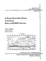 A Global Ocean Wind Stress Climatology Based on ECMWF Analyses