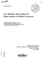 Low Modulus Strain Gages for Stress Analysis of Balloon Structures