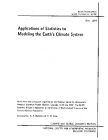 Applications of Statistics to Modeling the Earth's Climate System
